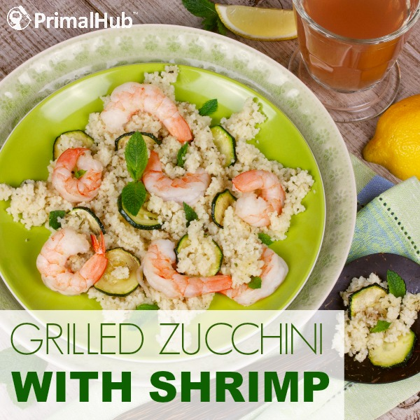 Grilled Zucchini with Shrimp #paleo #grainfree #glutenfree #shrimp #zucchini #realfood