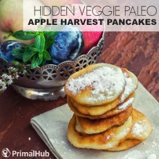 Hidden Veggie Paleo Apple Harvest Pancakes #paleo #pancakes #veggies #apple #glutenfree