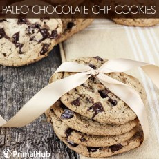 Paleo Chocolate Chip Cookies #paleo #chocolatechip #cookies #dessert #glutenfree #grainfree