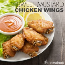 Sweet Mustard Chicken Wings #paleo #chicken #wings #healthy #glutenfree
