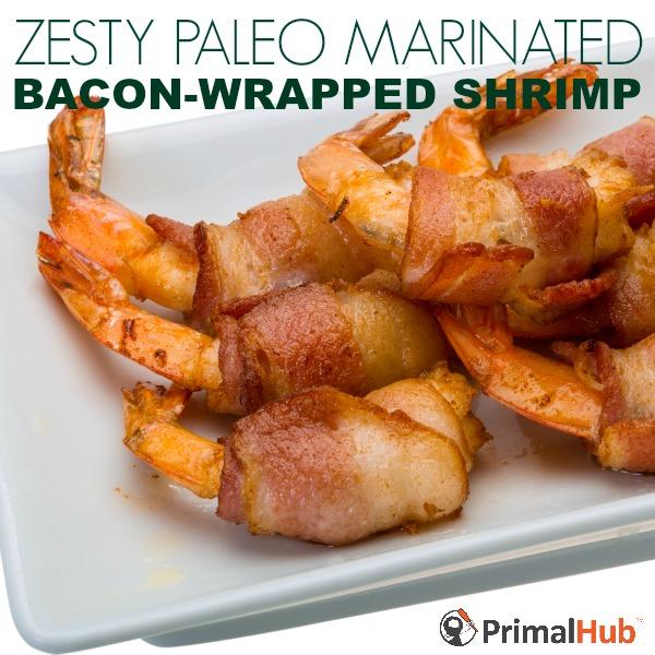 Zesty Paleo Marinated Bacon-Wrapped Shrimp #Paleo #bacon #shrimp #fish #baconwrapped #glutenfree