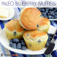 Paleo Blueberry Muffins #paleo #blueberry #muffins #Breakfast #glutenfree