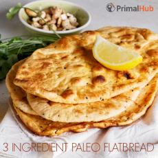 3 Ingredient Paleo Flatbread #paleo #flatbread #bread #glutenfree