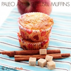 Paleo Apple Streusel Muffins #paleo #glutenfree #grainfree #breakfast #muffins #apple