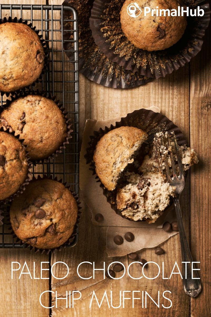 Paleo Chocolate Chip Muffins #paleo #chocolate #breakfast #dessert #chip #muffins #glutenfree #grainfree