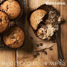 Paleo Chocolate Chip Muffins #paleo #chocolate #breakfast #dessert #chip #muffins #glutenfree #grainfree