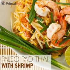 Paleo Pad Thai with Shrimp #paleo #padthai #shrimp #glutenfree #Healthy