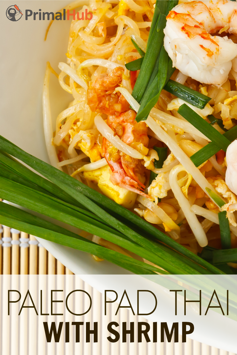 Paleo Pad Thai with Shrimp #paleo #padthai #shrimp #grainfree #glutenfree #Healthy