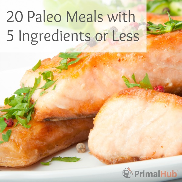 20 Paleo Meals with 5 Ingredients or Less