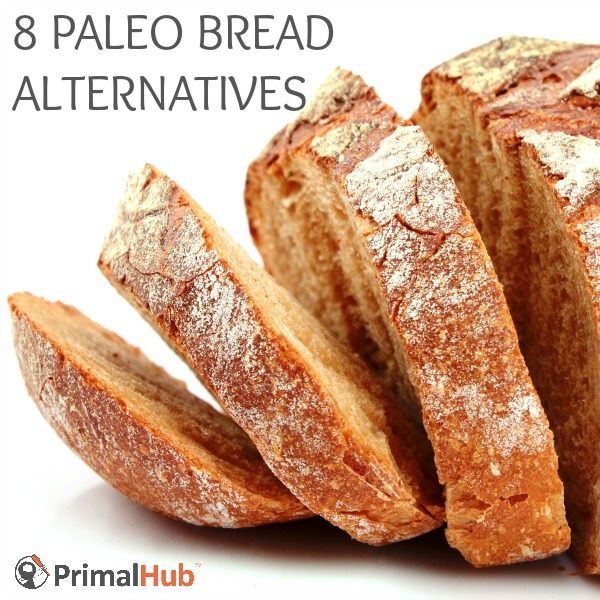 8 Paleo Bread Alternatives - primalhub.com #paleo #primal #glutenfree #grainfree #bread