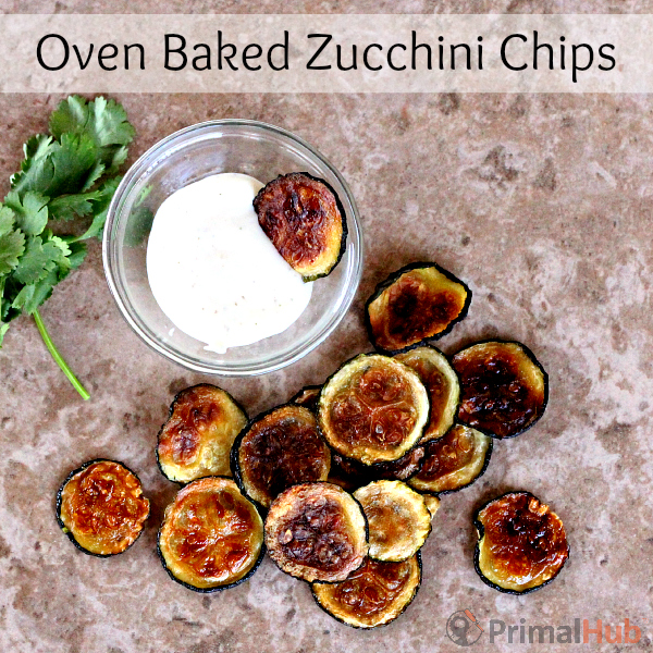 These crunchy, flavorful oven baked zucchini chips are healthy and delicious!