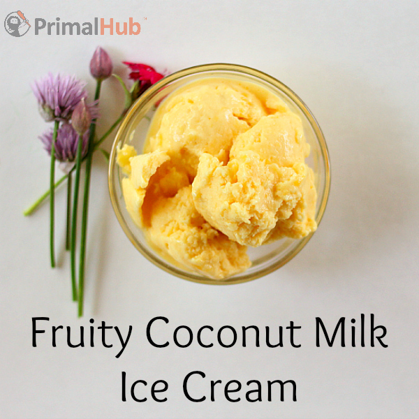 It's easy to make this delicious fruity coconut milk ice cream!
