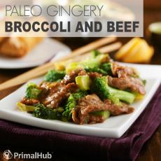 Paleo Gingery Broccoli and Beef #paleo #ginger #glutenfree #beef #recipe