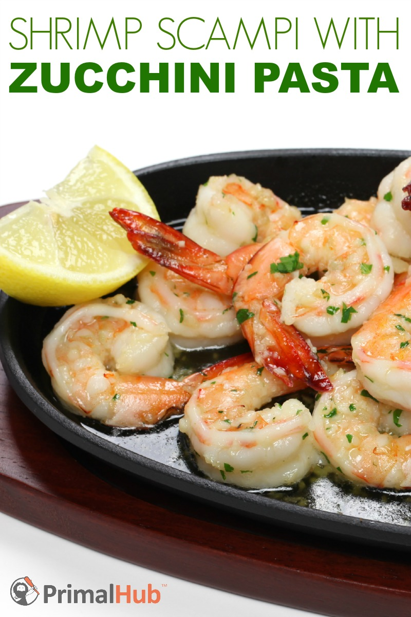 Shrimp Scampi with Zucchini Pasta #paleo #zucchini #pasta #shrimp #realfood