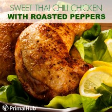 Sweet Thai Chili Chicken with Roasted Peppers #paleo #glutenfree #grainfree #peppers #chicken