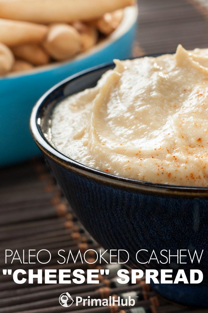 Paleo Smoked Cashew Cheese Spread #dairyfree #paleo #glutenfree #cheese #spread #dip