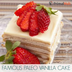 Famous Paleo Vanilla Cake #paleo #vanilla #glutenfree #cake #dessert #grainfree