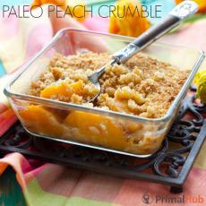 Paleo Peach Crumble #paleo #Peach #crumble #glutenfree #grainfree #realfood
