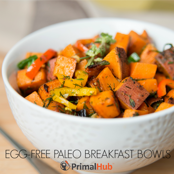 Egg Free Paleo Breakfast Bowls #paleo #eggfree #Breakfast #hash #glutenfree