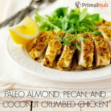 Paleo Almond Pecan and Coconut Crumbed Chicken #paleo #chicken #almond #pecan #coconut Dinner
