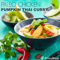 Paleo Chicken Pumpkin Tahi Curry Recipe #paleo #glutenfree #curry #dinner #chicken #pumpkin