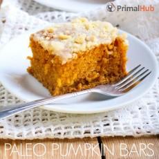 Paleo Pumpkin Bars #Paleo #pumpkin #fall #recipes #dessert #brownies
