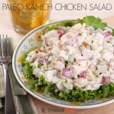 Paleo Ranch Chicken Salad #paleo #chicken #salad #ranch #healthy #dinner