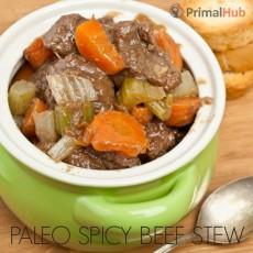 Paleo Spicy Beef Stew #paleo #beef #stew #soup #healthy #spicy #glutenfree