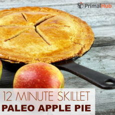 15 Minute Paleo Skillet APple Pie #paleo #applepie #skillet #dessert