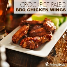 Crockpot Paleo BBQ Chicken WIngs #Paleo #crockpot #slowcooker #chicken #BBQ #wings