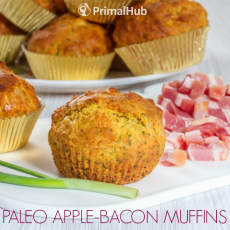 Paleo Apple-Bacon Muffins #paleo #apple #bacon #Breakfast #muffins #glutenfree #grainfree