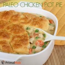 Paleo Chicken Pot Pie #paleo #chicken #potpie #chickenpotpie #glutenfree
