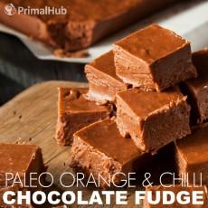 Paleo Orange and Chilli Chocolate Fudge #Paleo #chocolate #fudge #dessert #Orange