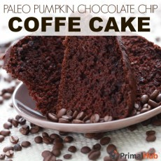 Paleo Pumpkin Chocolate Chip Coffee Cake #paleo #glutenfree #pumpkin #coffee #coffeecake #chocolatechip #dessert