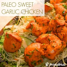 Paleo Sweet Garlic Chicken #paleo #garlic #chicken #glutenfree