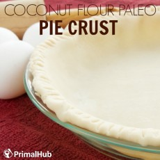 Coconut Flour Paleo Pie Crust #paleo #Coconutflour #piecrust #dessert #pie