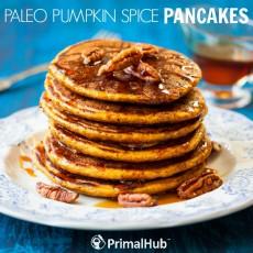 Paleo Pumpkin Spice Pancakes #Paleo #Breakfast #pumpkin #pumpkinspice #pancakes