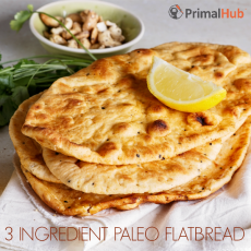 3 Ingredient Paleo Flatbread #paleo #flatbread #bread #glutenfree