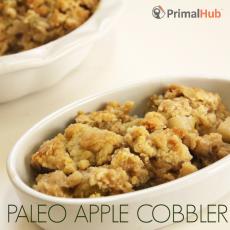 Paleo Apple Cobbler #paleo #cobbler #apple #grainfree #glutenfree #dessert