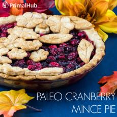 Paleo Cranberry Mince Pie #paleo #cranberry #mincepie #pie #glutenfree