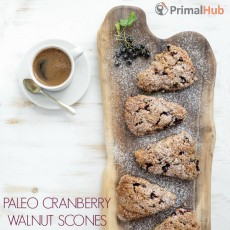 Paleo Cranberry Walnut Scones #paleo #cranberry #scones #walnuts #Breakfast #dessert #glutenfree