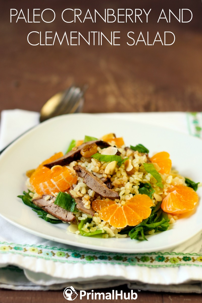 Paleo Cranberry and Clementine Salad #paleo #salad #cranberry #healthy #dressing