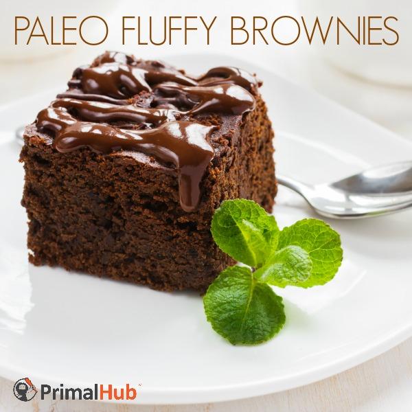 Paleo FLuffy Brownies #Paleo #brownies #dessert #glutenfree #chocolate