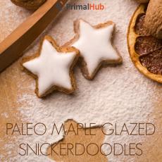 Paleo Maple Glazed Snickerdoodles #paleo #glutenfree #dessert #cookies #maple #glazed #snickerdoodles