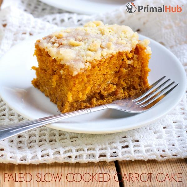 Paleo Slow Cooked Carrot Cake #paleo #carrotcake #slowcooker #dessert #glutenfree