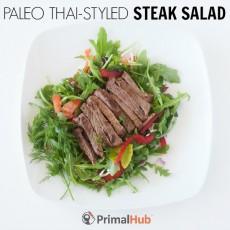 Paleo Thai-Style Steak Salad #paleo #thai #steak #salad #dairyfree #glutenfree