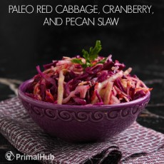 Red Cabbage, Cranberry, and Pecan Slaw #paleo #redcabbage #cranberry #pecan #veggies
