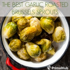 The Best Garlic Roasted Brussels Sprouts #Paleo #garlic #brusselssprouts #vegetables #veggie