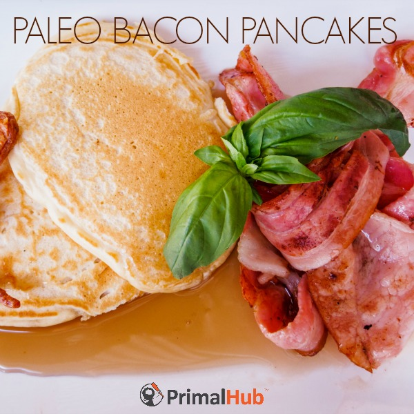 Paleo Bacon Pancakes #paleo #bacon #pancakes #breakfast #glutenfree #grainfree