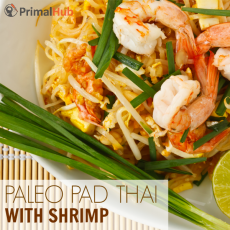 Paleo Pad Thai with Shrimp #paleo #padthai #shrimp #glutenfree #Healthy